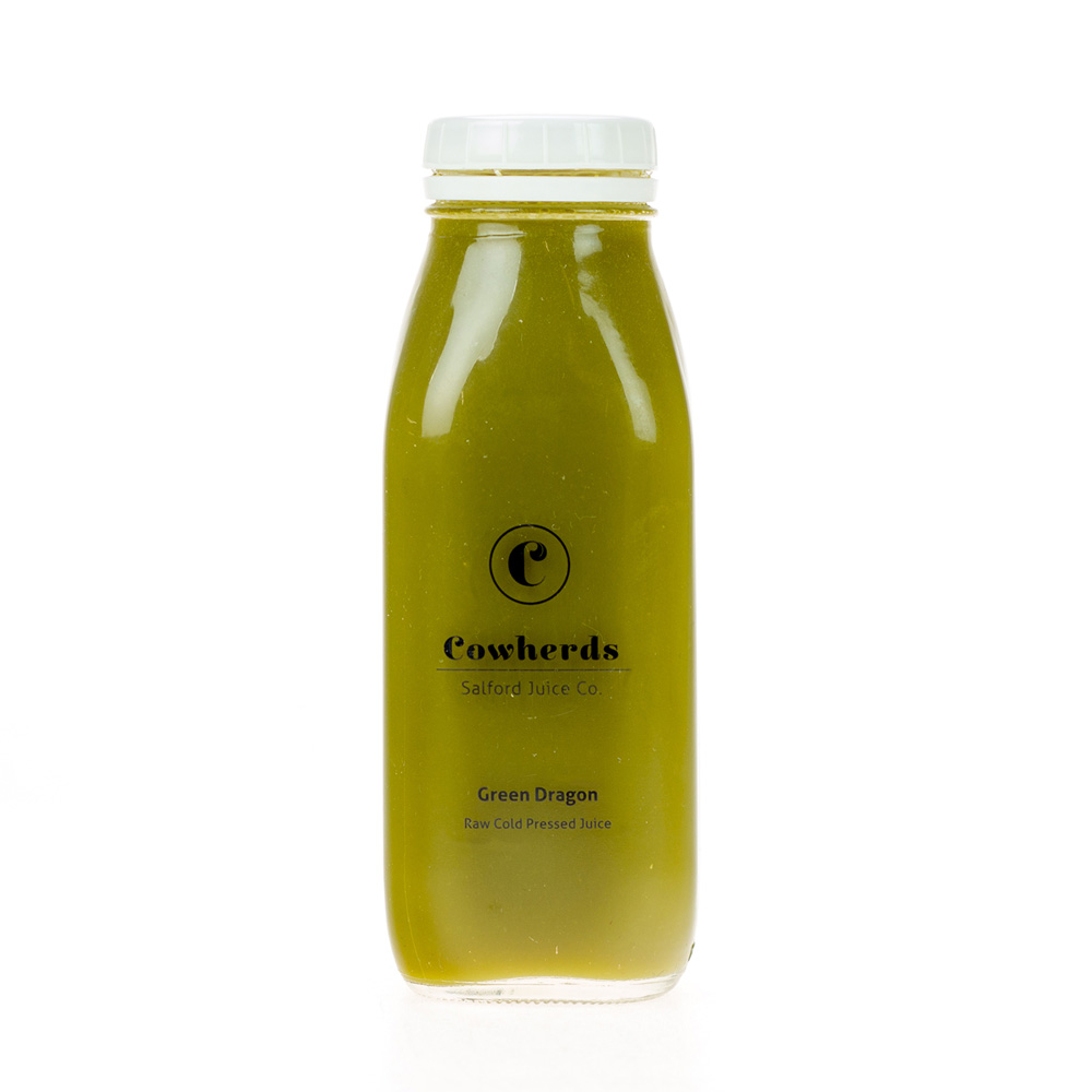Green Dragon raw cold pressed juice - cowherds