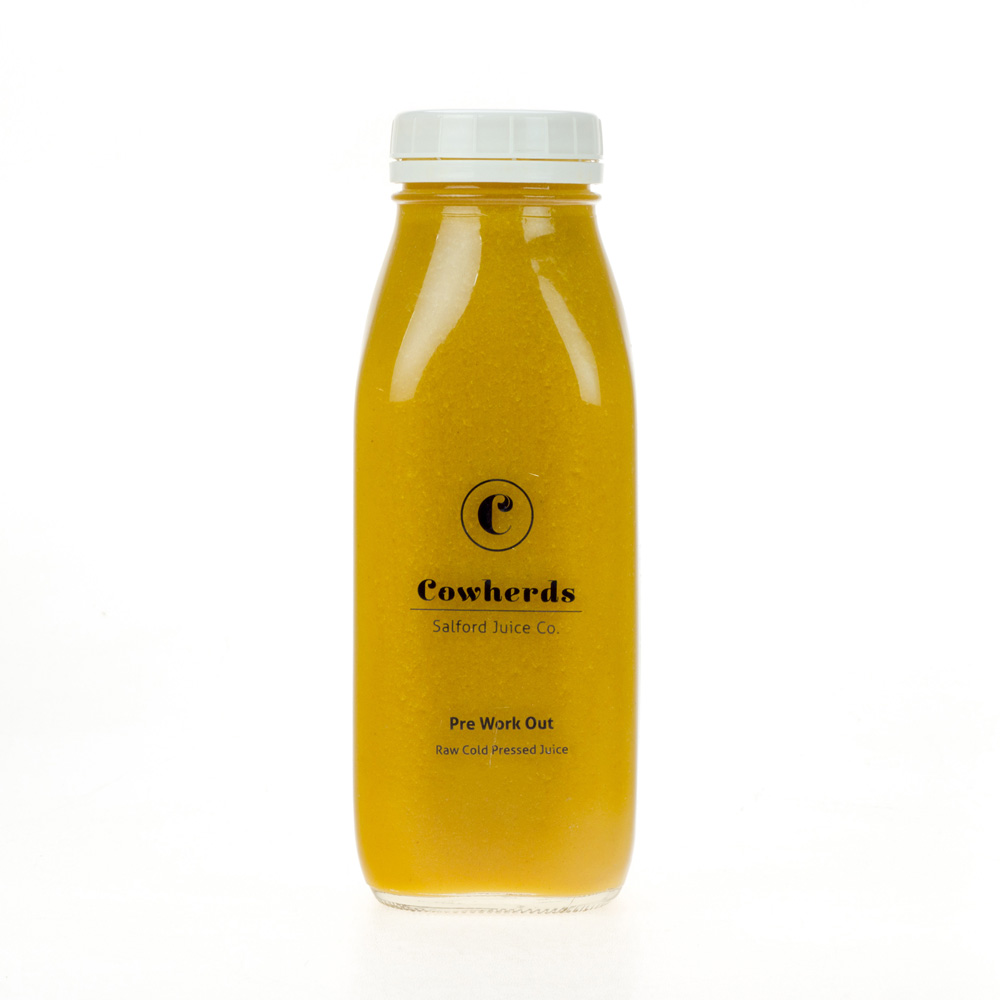 Pre-Workout raw cold pressed juice - cowherds